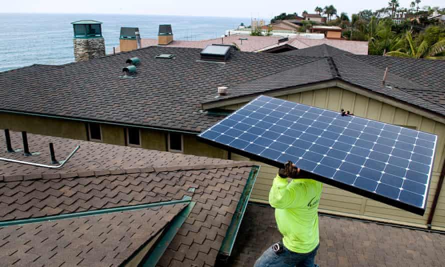 US solar industry installation jobs