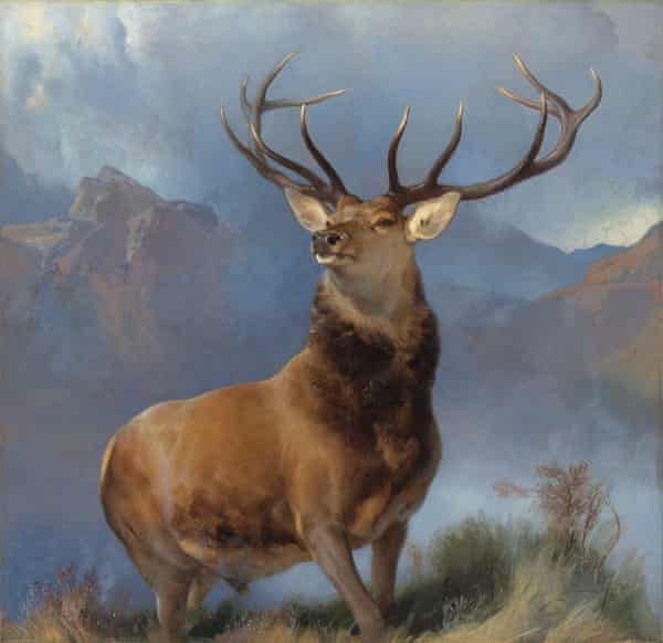 Landseer's 1851 painting of a red deer stag has been widely reproduced.