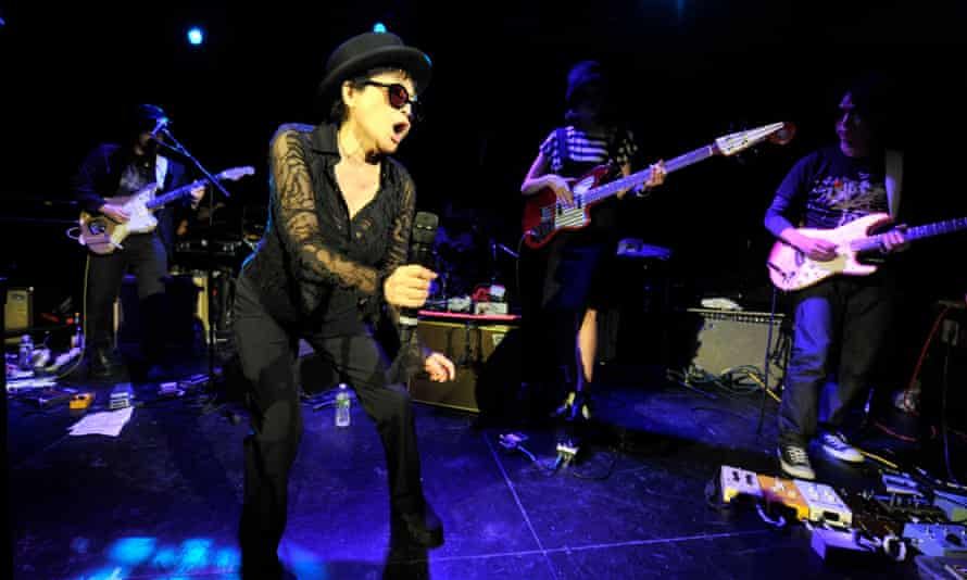 Yoko Ono, performing with the Plastic Ono Band.