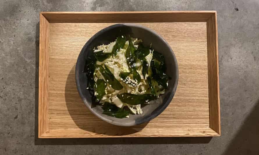 Ben Devlin's wombok heart salad