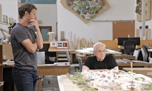 Facebook's Mark Zuckerberg discusses the firm's expansion plans with architect Frank Gehry.