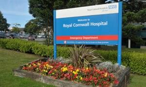 The Royal Cornwall hospital sign