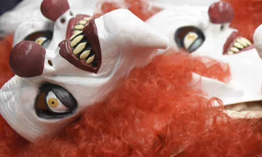 Clown masks are manufactured by a company in Mexico