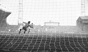27th March 1968<br>Division One: Best scores past Manchester City goalkeeper Ken Mulhearn inside the first minute of the Manchester derby at Old Trafford in March 1968, although City went on to win the game 3-1.