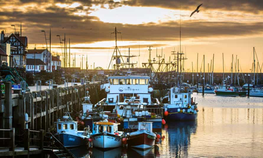 The beginning of April saw the Scarborough fishing fleet lying idle in harbour on the Yorkshire coast.