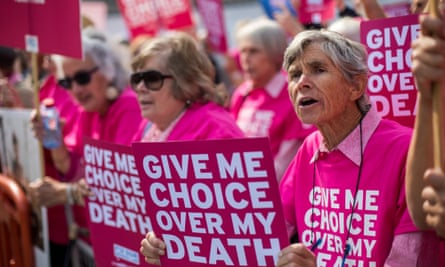 Campaigners for assisted dying protest in London in 2015