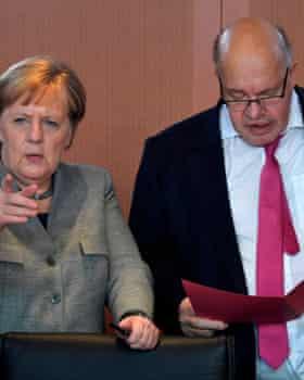 German chancellor Angela Merkel with Peter Altmaier.