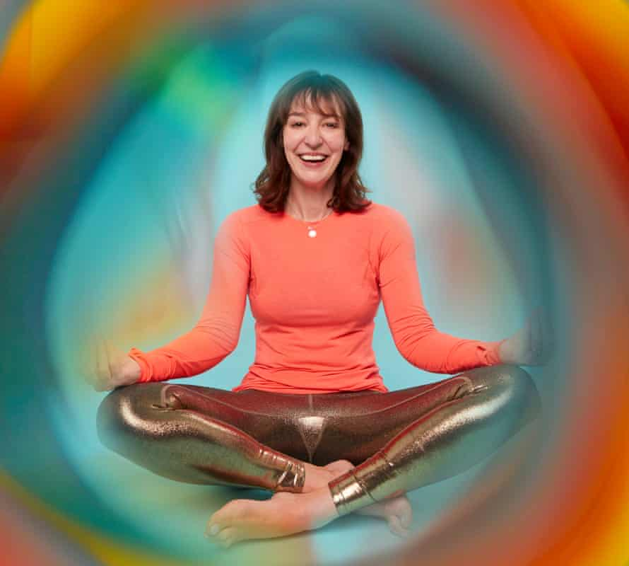 Zoe Williams cross-legged in aura