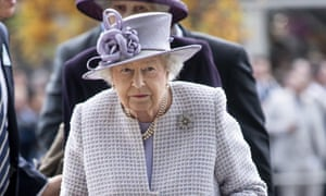The Queen arrives on Champions Day at Ascot.