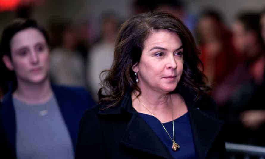 The Sopranos actress Annabella Sciorra arrives in court to testify against Harvey Weinstein