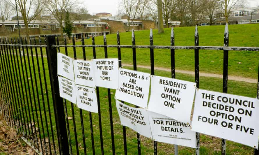 Clued up … Cressingham Gardens housing estate, which has been fighting for survival for eight years.