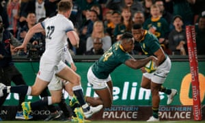 S'busiso Nkosi scores for South Africa against England on his Test debut
