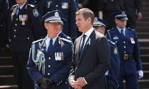 Andrew Scipione (left) and NSW premier Mike Baird