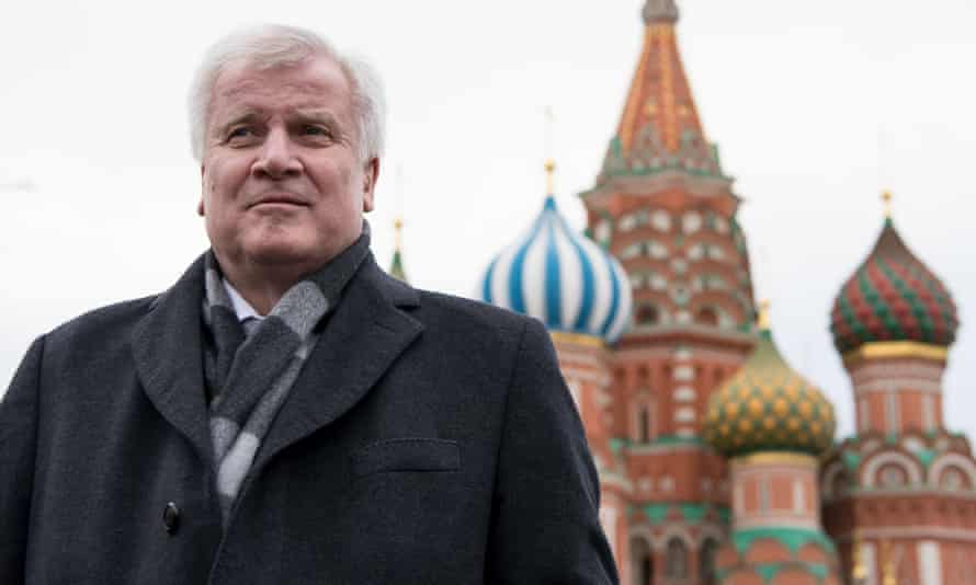 Horst Seehofer in Moscow, Russia