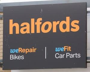 Halfords in Tottenham Hale.