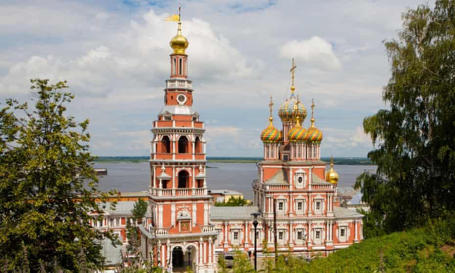 The baroque church of the Strogonov family, Nizhny Novgorod.