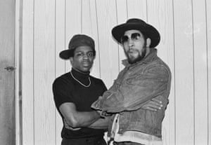 The Cold Crush Brothers' Tony Tone with Kool Herc (right), 1979.