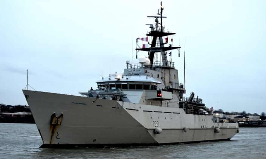 HMS Tyne, which along with HMS Severn and HMS Mersey are known as the 'cod squad'