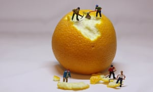 Close-Up Of Figurines With Orange Against White BackgroundGettyImages-950086224