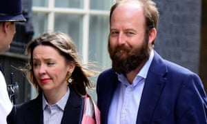 Fiona Hill and Nick Timothy arriving at Downing Street on Thursday
