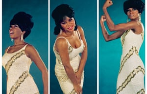 """We model full Supremes regalia on this shoot, with sequin gowns, beehive hairstyles, and lots of eye makeup."" - Mary Wilson"
