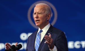 Joe Biden speaks as he lays out his plan for combating the coronavirus and jump-starting the American economy.