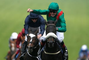 Pat Smullen and Harzand win the Derby in 2016.