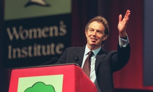 Tony Blair got a frosty reception at the Women's Institutes annual conference in June 2000.