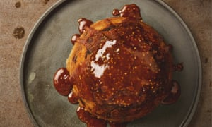 Yotam Ottolenghi's sesame, date and banana steamed pudding.
