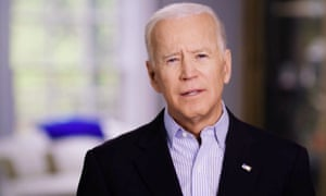 A still of Joe Biden from a video released as he announced his 2020 candidacy.
