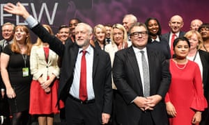 Jeremy Corbyn and members of the shadow cabinet last September.