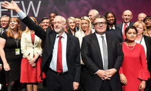 Jeremy Corbyn, Watson and other MPs at this year's Labour conference.