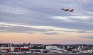 File photo of a Qantas flight taking off from Sydney airport