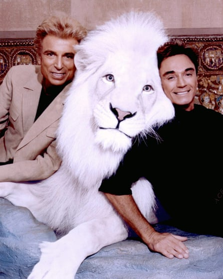 Magicians Siegfried and Roy have made white tigers and white lions famous as part of their act and have funded the breeding of the animals.
