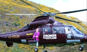 SNP leader and first minister Nicola Sturgeon embarks on a five-day election campaign tour by helicopter.