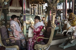Circle of life: on the merry-go-round at Toshimaen amusement park