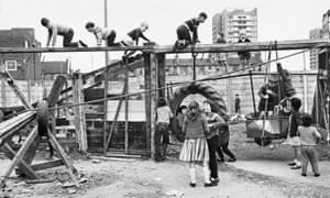 Children at an adventure playground in Notting Hill, London, in 1965.