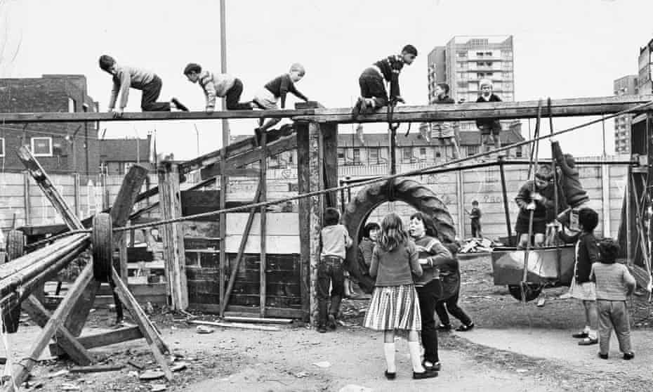 An early adventures playground built on a two-acre site in Faraday Road, Notting Hill.