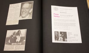 Press notice, Fred Astaire article and John Lennon and Yoko Ono article — page from Jane Bown's scrapbook GNM archive ref: JHB/6/5