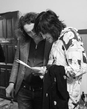'When I'm on, it's Fisher Price Letters Live' … Noel Fielding backstage with Jamie Byng.