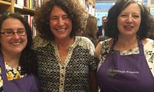 The Edinburgh Bookshop: Cat Anderson, author Francesca Simon and bookshop owner Marie Moser.