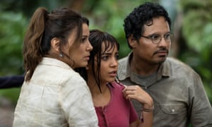 Winning performance … Isabela Moner with Eva Longoria and Michael Peña in Dora and the Lost City of Gold.
