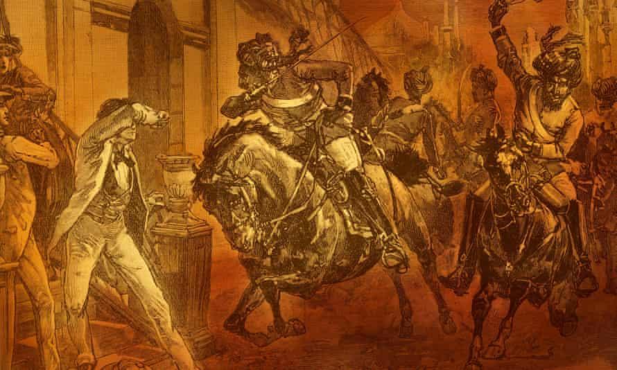 Indian Rebellion of 1857: Sepoys rebelling in Delhi
