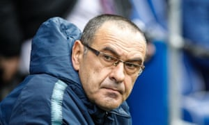 Maurizio Sarri said of the fans chants: 'Unfortunately I am getting used to it.'