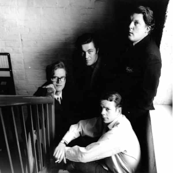The Private Eye team circa 1962: clockwise from left, Christopher Booker, Richard Ingrams, Willie Rushton and Nick Luard.