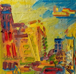 Mornington Crescent, Summer Morning II by Frank Auerbach, 2004