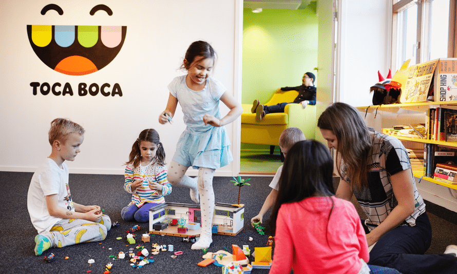 A playtesting session at the Toca Boca studio in Stockholm.