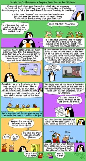 Great Barrier Reef cartoon, 22 April 2016.
