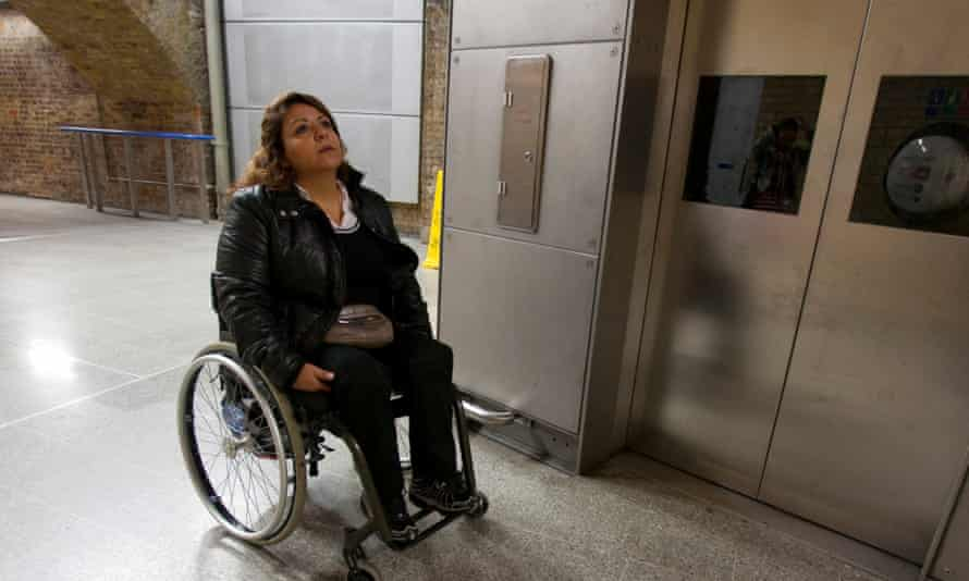 Wheelchair user Iman Saab going to Stratford by public transport.