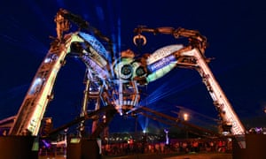 Arcadia's giant fire-breathing mechanical spider